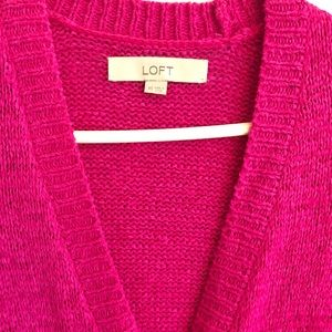 Ann Taylor Loft Hot Pink Cardigan